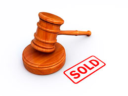3D Illustration Of A Gavel Placed Above The Word Sold Stock Photo ...